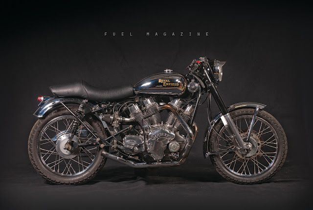 The Bulldog, a V Twin Royal Enfield Carberry Double Barrel - Return of the Cafe Racers