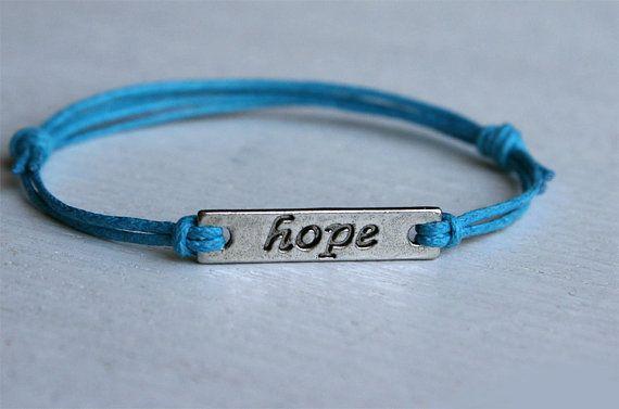 Hope message bracelet or Peace message bracelet by greenduckweed, $6.50