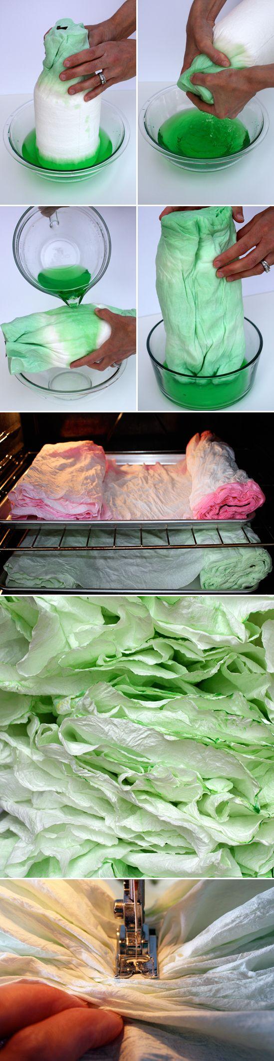 Paper Towel garland!! Amazing!