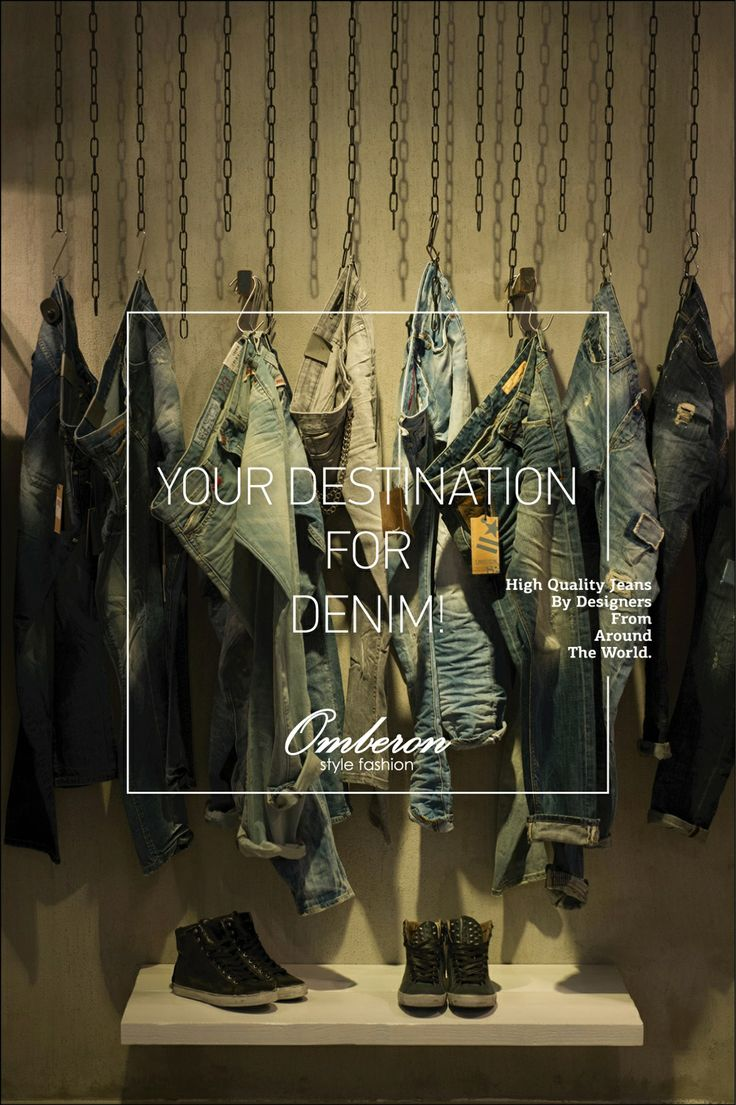 Denim style inspiration | Omberon Style Fashion Credits: © Vicky Lafazani - Installation text: Roligraphics / Graphic Designer