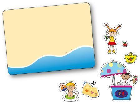 Jeu de topologie sur le thème de l'été : la plage