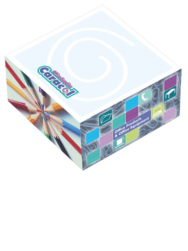 """Promotional Products - 3"""" x 3"""" x 1 1/2"""" Adhesive Cubes. (Customized with your brand or logo)"""