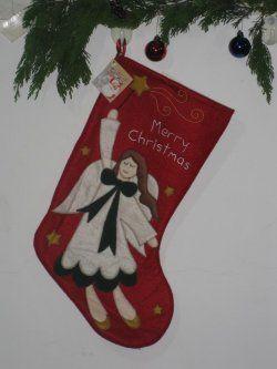 Christmas Stocking ( Red Bottom angel pattern )