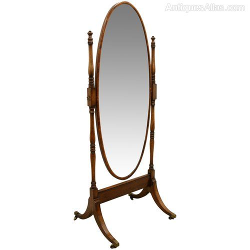 Antiques Atlas - Late Georgian Oval Cheval Mirror