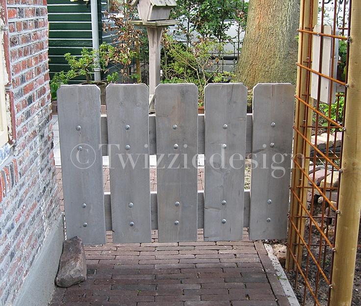 Steigerhout poort tuinhek tuin pinterest for Schutting intratuin
