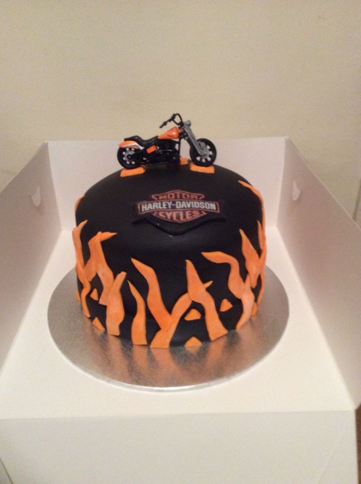 Harley theme birthday cake