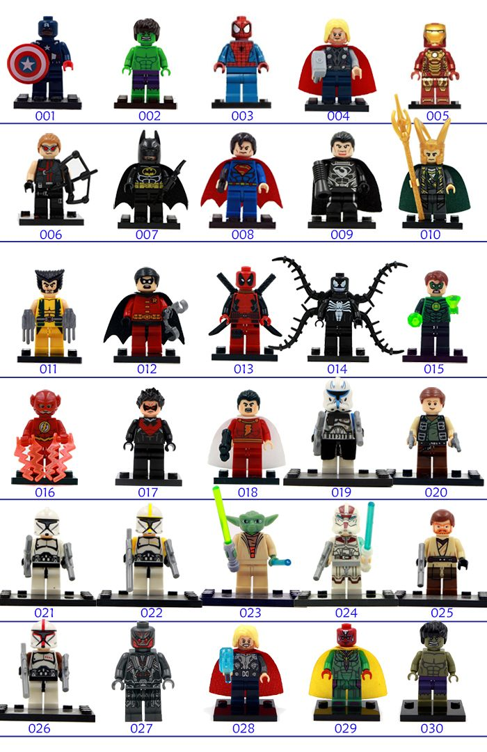 Single Sale DC&Marvel Super Hero Minifigs Buliding Block Collection Toys Mini Figure Best Children Legoes Gift