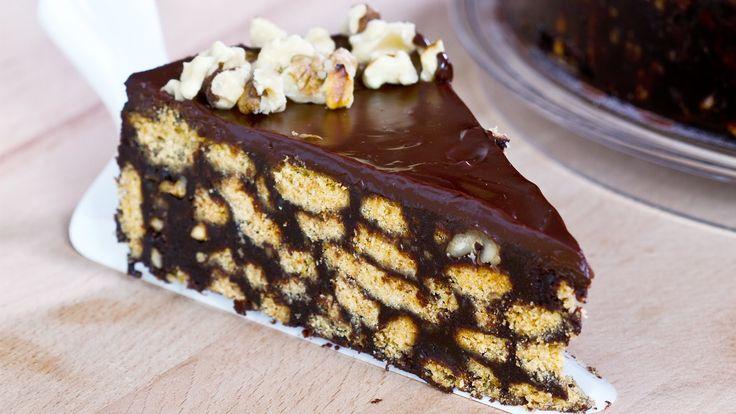 Sütés nélküli csokoládés keksztorta – varázslatos finomság!