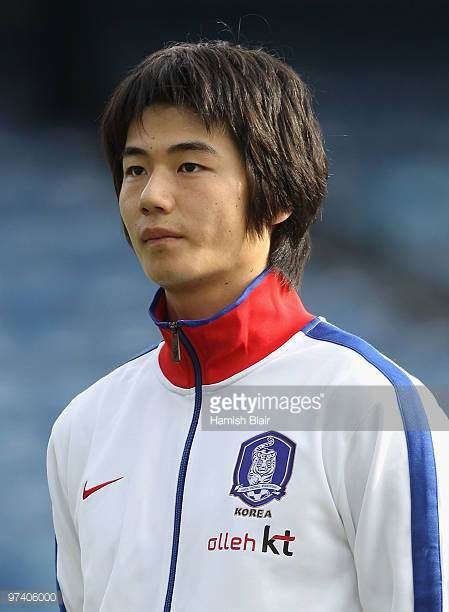 Ki SungYong of Korea looks on during the national anthems ahead of the International Friendly match between Ivory Coast and Republic of Korea played...