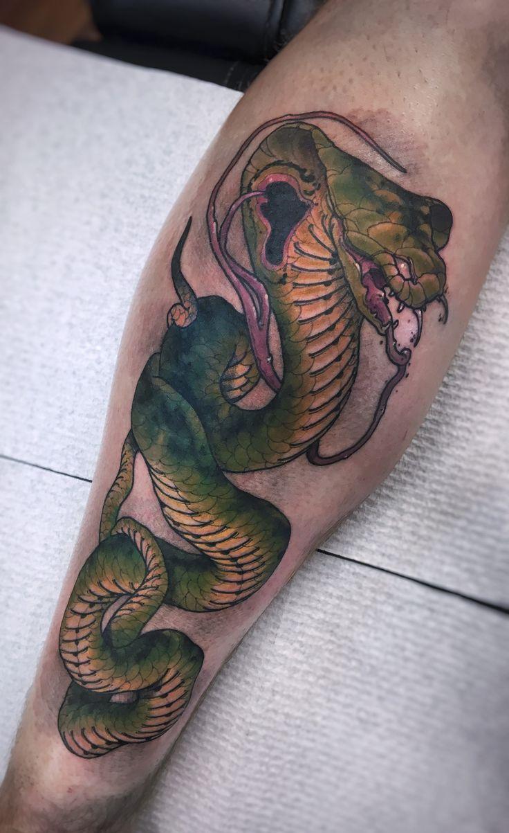 Tool box tattoo by mark old school tattoos by mark pinterest - Japanese Cobra Tattoo By Akos