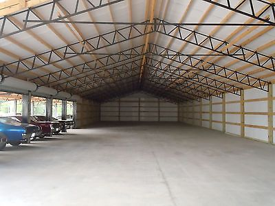 5 30 39 steel trusses for pole barn garages shed farm for 50x100 garage