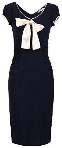 MUXXN Women Vintage Rockabilly Bowknot Casual Dress (S, Navy Blue) MUXXN http://smile.amazon.com/dp/B00PNGC6N0/ref=cm_sw_r_pi_dp_avNwvb10KFQAF
