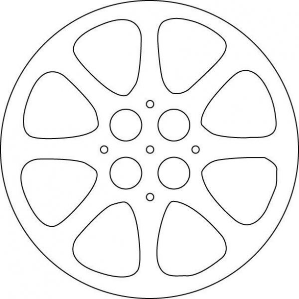 Movie Reel Template from AlamoSweets at Cake Central.  (Intended use is for cake design and cake decorating.)