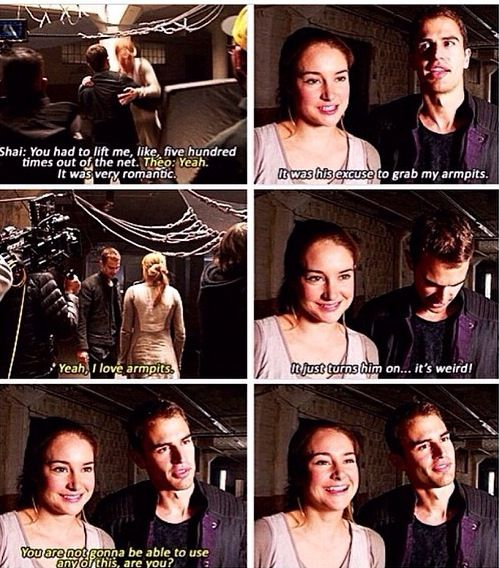 """""""You're not gonna be able to use any of this, are you?"""" -- Pure Theo and Shai. <3"""