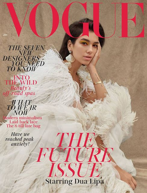 f763e2d65a1e9 Dua Lipa in Gucci on the January 2019 Cover of British Vogue Magazine