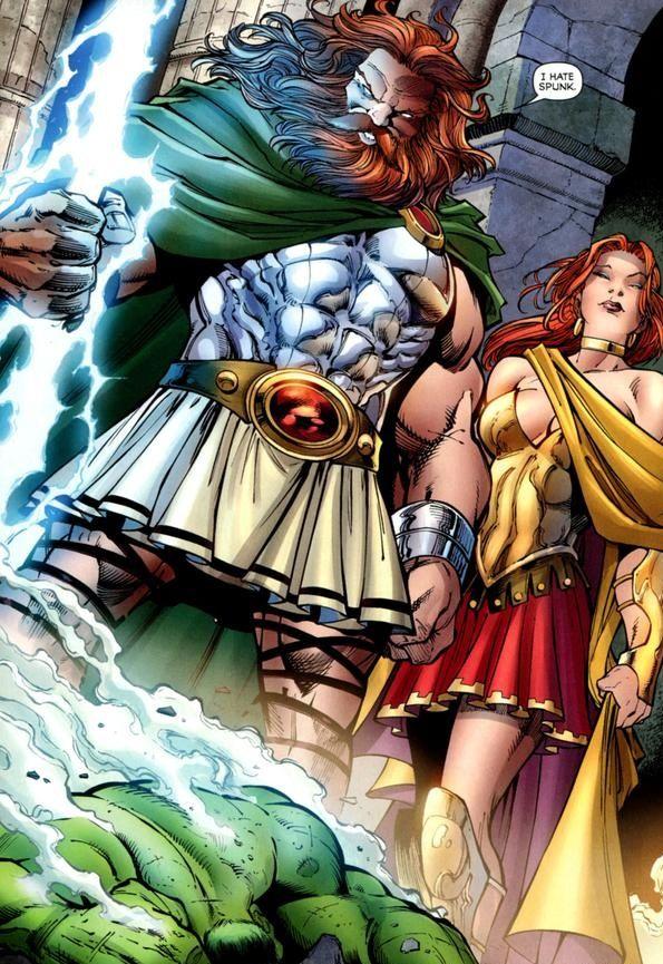 Zeus and Hera, Marvel comics, HUlk