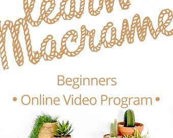 LEARN MACRAME Online Video Workshops Lessons Tutorials and