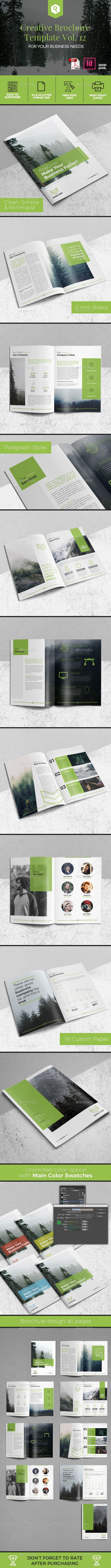 Creative #Brochure Template Vol. 12 - Corporate Brochures Download here: https://graphicriver.net/item/creative-brochure-template-vol-12/19968754?ref=alena994