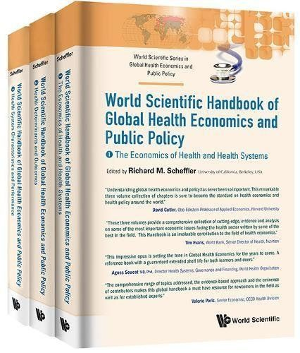 This Handbook covers major topics in global health economics and public policy and provides a timely, systematic review of the field. Edited by Richard M Scheffler, Distinguished Professor of Health Economics and Public Policy and Director of the Global Center for Health Economics and Policy... more details available at https://insurance-books.bestselleroutlets.com/health/product-review-for-world-scientific-handbook-of-global-health-economics-and-public-policy-a-3-volume-set-
