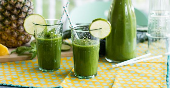 A great way to introduce your friends to green smoothies is to have a party. Instead of cocktails, whip up a big pitcher of green smoothie. This has got to be one of our family favorites— juicy, sweet pineapple; refreshing mint and a squeeze of lime. The only thing missing is the beach. If …