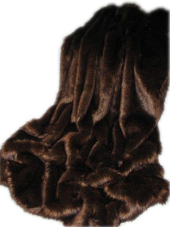 """Morphy exquisito Chocolate piel sintética/manta del tiro, grande, 56 """"X 72"""", gran regalo, Limited Edition, hecho en Canadá"""