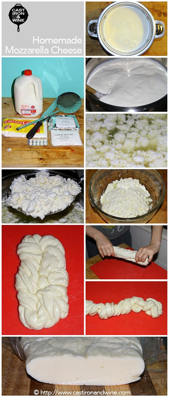 Adventures in homemade Mozzarella Cheese! http://castironandwine.com/
