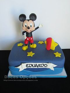 Doces Opções: O Mickey no 1º aniversário do Eduardo