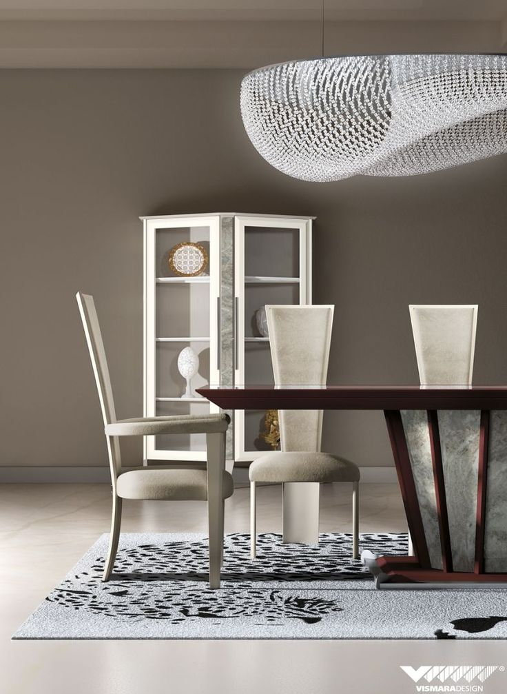 Capital table with saver marble basement and High Chair bring a new form and elegance to Desire collection. #vismaradesign #chair #interiordesign #diningroom