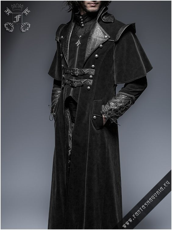 Y-636 The Ghost. Long men's coat by punk rave | Fantasmagoria.eu - Gothic Fashion boutique