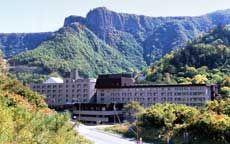 層雲峡温泉 層雲峡観光ホテル(HTC提供)【楽天トラベル】広々とした大浴場、岩と檜の露天風呂が自慢です。。