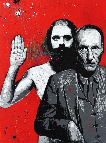 Artist: Jef Aerosol, Ginsberg & Burroughs