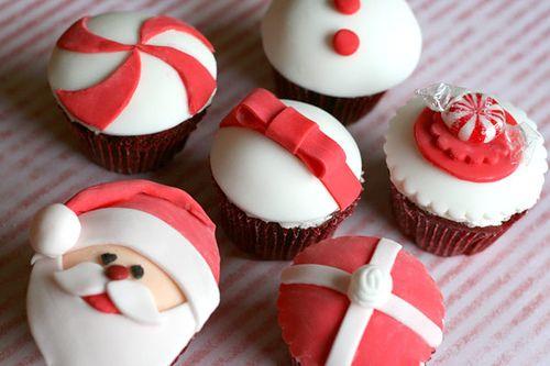 christmas cupcakes #cupcakesCake Recipe, Decor Ideas, Cupcakes Decor, Holiday Cupcakes, White Christmas, Christmas Cake, Christmas Cupcakes, Santa Cupcakes, Cupcakes Rosa-Choqu