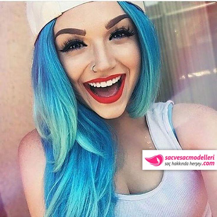mavi saç rengi
