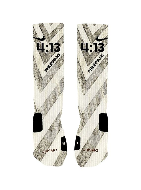 Custom Philippians 4:13 Socks Custom Nike Elite by NikkisNameGifts