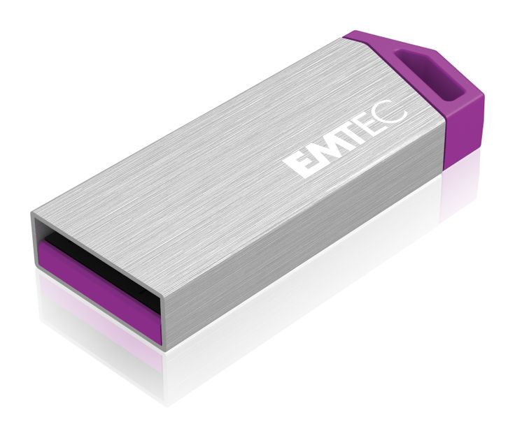miniMetallic mini USB flash drive, front 3/4 - 4GB #EMTEC #FlashDrive