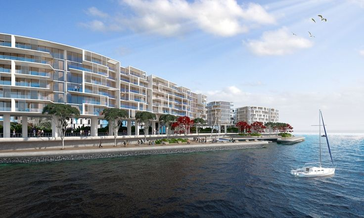 Marina, foreshore and residential apartments.  http://www.pagahillestate.com/