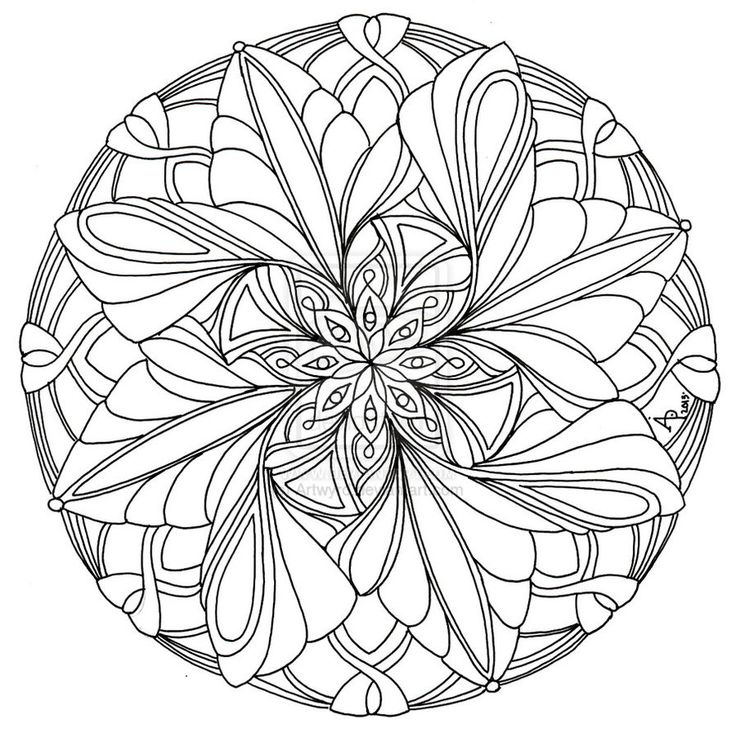 367 best Drawings - Mandalas images on Pinterest Coloring books - new elephant mandala coloring pages easy