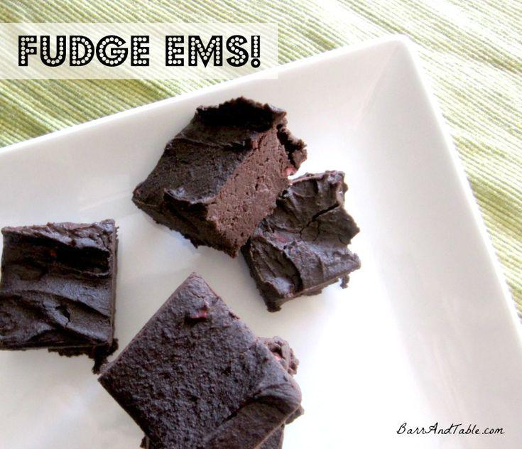 Black bean protein Fudge Ems! A Healthy Brownie recipe
