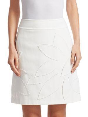 AKRIS PUNTO Laser Cut A-Line Skirt. #akrispunto #cloth #