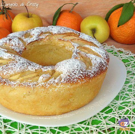 Una ciambella golosissima e soffice alle mele e arancia , ottima per la colazione o la merenda !