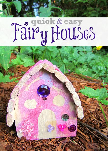 Skip making the house and just decorate it ! Fairy house for kids - even toddlers could make this.