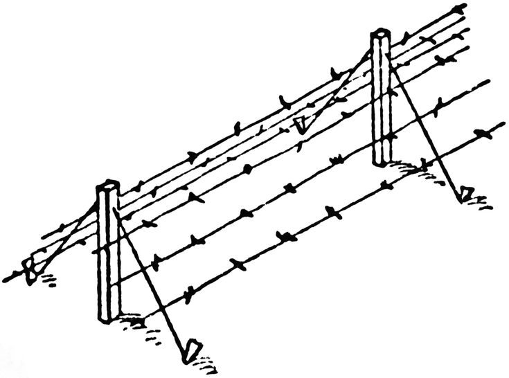 Image result for barbed wire ww1 clipart