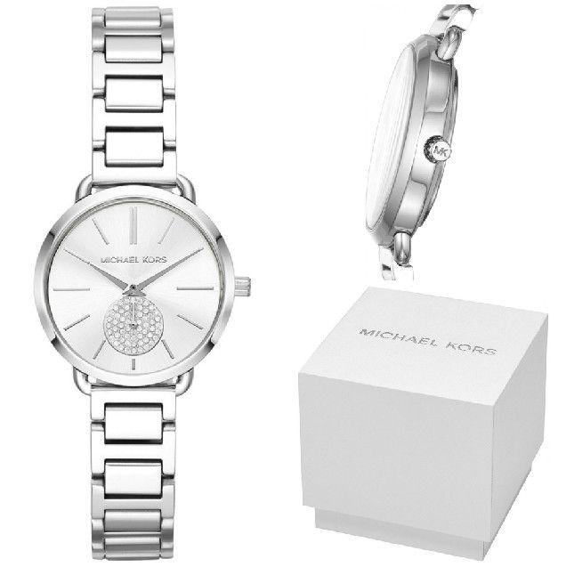 مايكل كورس ساعة رسمية نساء انالوج ستانلس ستيل Mk3837 Cool Watches Michael Kors Watch Silver Watch
