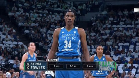 basketball yes nod nodding wnba wnba finals sylvia fowles #humor #hilarious #funny #lol #rofl #lmao #memes #cute