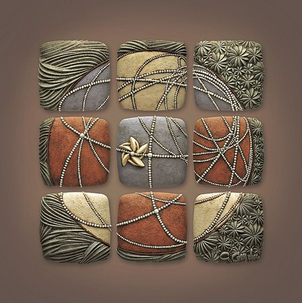 Бесконечность вариантов: керамические панно Chris Gryder - Ярмарка Мастеров - ручная работа, handmade