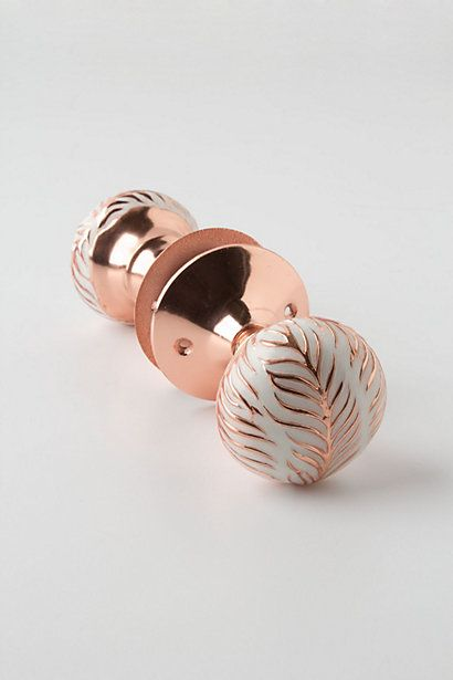 Imprinted Doorknob #anthropologie Only $19.95... wonder whether I'd actually be able to install it...