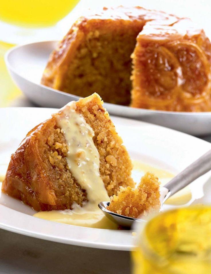 Pudin de limón y ratafia con crema de laurel.  #foodandtravelmx #recetas