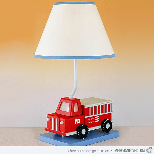boys table lamps for bedroom more fire trucks table lamps for bedroom