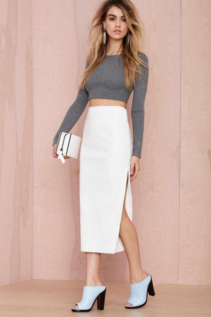 Maurie & Eve Gravity Vegan Leather Skirt