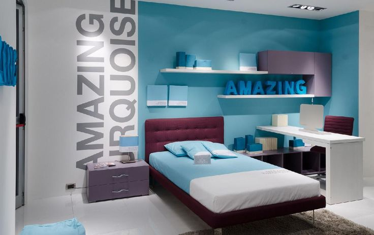 Комната  подростка в голубых тонах Moretti Compact MI21